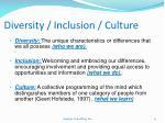 diversity inclusion culture