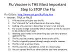 flu vaccine is the most i mportant step to stop the flu