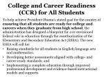 college and career readiness ccr for all students