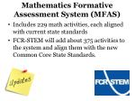 mathematics formative assessment system mfas