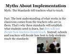 myths about implementation