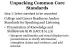 unpacking common core standards