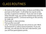class routines