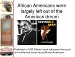 african americans were largely left out of the american dream
