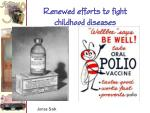renewed efforts to fight childhood diseases