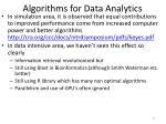 algorithms for data analytics