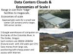 data centers clouds economies of scale i