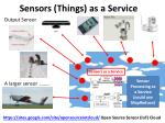 sensors things as a service