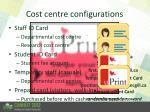 cost centre configurations
