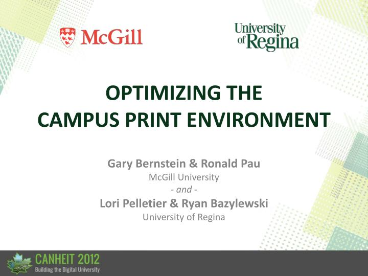 optimizing the campus print environment n.