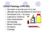 clinical pathology vpth 425