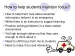 how to help students maintain focus1