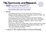 tbl community and research