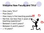 welcome new faculty and ta s