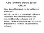core functions of state bank of pakistan