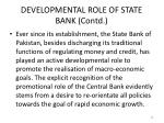 developmental role of state bank contd