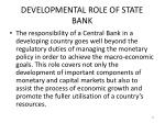 developmental role of state bank