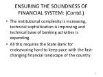 ensuring the soundness of financial system contd1