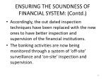 ensuring the soundness of financial system contd2