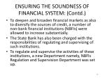 ensuring the soundness of financial system contd4