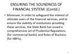 ensuring the soundness of financial system contd5