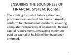 ensuring the soundness of financial system contd7