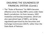 ensuring the soundness of financial system contd9