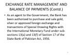 exchange rate management and balance of payments contd