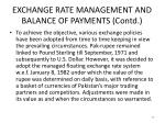 exchange rate management and balance of payments contd2