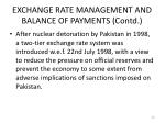 exchange rate management and balance of payments contd4