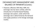 exchange rate management and balance of payments contd5