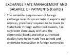 exchange rate management and balance of payments contd6