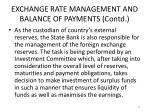 exchange rate management and balance of payments contd7