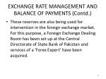 exchange rate management and balance of payments contd8