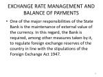 exchange rate management and balance of payments