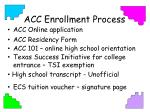 acc enrollment process