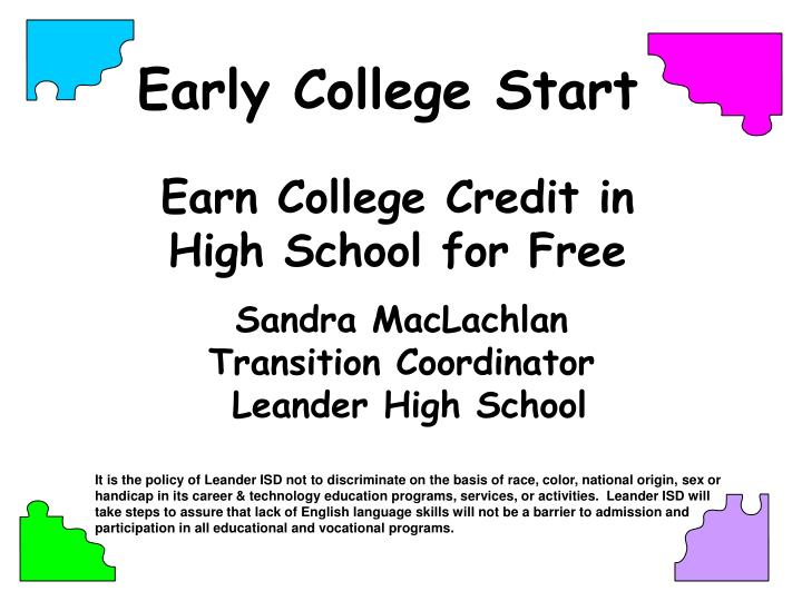 earn college credit in high school for free n.