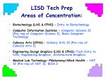 lisd tech prep areas of concentration