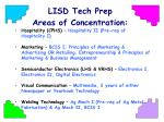 lisd tech prep areas of concentration1