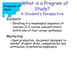 what is a program of study a student s perspective