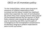 oecd on us monetary policy