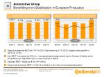 automotive group benefitting from stabilization in european production