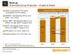 back up automotive group financials chassis safety