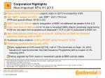 corporation highlights most important kpis h1 2013