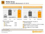 rubber group solid profitability maintained in h1 2013