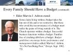 every family should have a budget continued2
