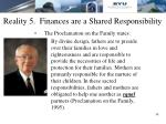 reality 5 finances are a shared responsibility