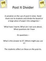 post it divider