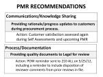 pmr recommendations