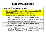 pmr weaknesses